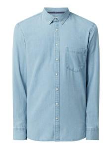 Niebieska koszula Montego z klasycznym kołnierzykiem