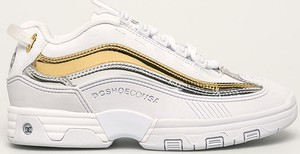 Buty sportowe DC Shoes sznurowane ze skóry ekologicznej