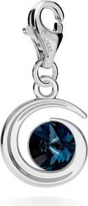 GIORRE SREBRNY CHARMS KSIĘŻYC SWAROVSKI RIVOLI 925 : Kolor kryształu SWAROVSKI - Montana, Kolor pokrycia srebra - Pokrycie Jasnym Rodem