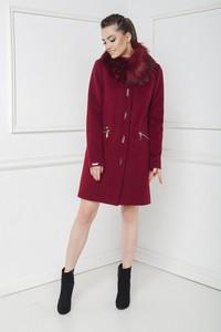 Czerwony płaszcz Marcelini z wełny