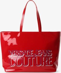 Czerwona torebka Versace jeans na ramię