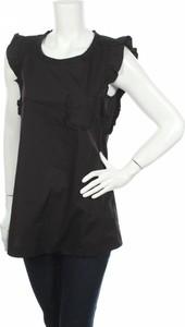 Czarna bluzka Twinset z okrągłym dekoltem z krótkim rękawem w stylu casual