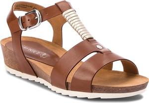 Sandały caprice ze skóry ekologicznej z klamrami w stylu casual