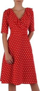 0dd888c6 sukienka czerwona w groszki - stylowo i modnie z Allani