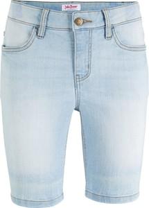 Niebieskie szorty bonprix John Baner JEANSWEAR w młodzieżowym stylu