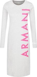 Sukienka Armani Jeans z długim rękawem z okrągłym dekoltem w stylu casual