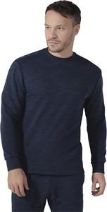 Granatowa bluza Reebok z bawełny