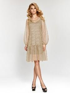 Sukienka Marselini z okrągłym dekoltem z długim rękawem