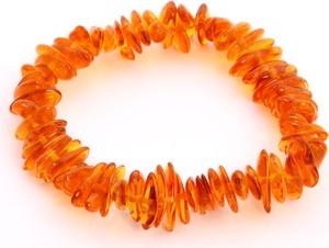 Ambertic-em Bransoletka z jasnokoniakowym bursztynem - dla dzieci