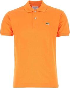 Pomarańczowa koszulka polo Lacoste z krótkim rękawem