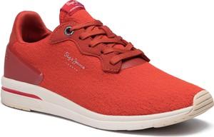Czerwone buty sportowe Pepe Jeans