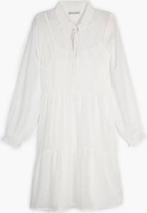 Sukienka Gate z szyfonu z długim rękawem mini