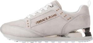 Trampki Versace Jeans ze skóry sznurowane