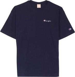 Niebieski t-shirt Champion w stylu casual