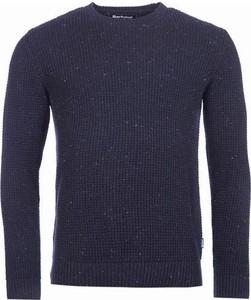 Granatowy sweter Barbour z bawełny