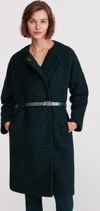 Zielony płaszcz Reserved z wełny w stylu casual