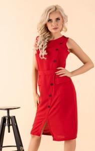 Sukienka MERRIBEL bez rękawów z okrągłym dekoltem mini