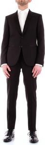 Czarny garnitur Corneliani z satyny