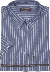 Niebieska koszula Aldo Vrandi z klasycznym kołnierzykiem