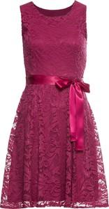 Sukienka bonprix BODYFLIRT z okrągłym dekoltem midi