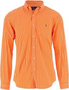 Pomarańczowa koszula Ralph Lauren z bawełny z długim rękawem