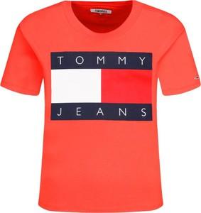 T-shirt Tommy Jeans z okrągłym dekoltem z krótkim rękawem w młodzieżowym stylu