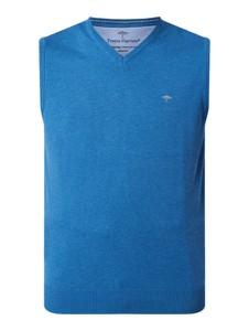 Niebieska kamizelka Fynch Hatton w stylu casual z bawełny