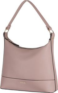 Różowa torebka PUCCINI na ramię ze skóry ekologicznej