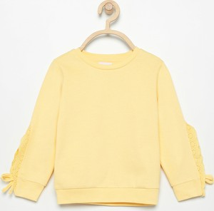 Żółta bluza dziecięca Reserved z bawełny