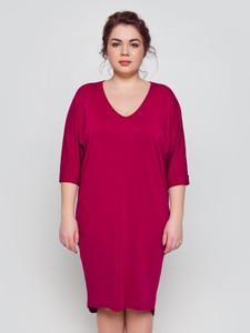 626d29b0ef Sukienka Trand By Grandua z dekoltem w kształcie litery v midi