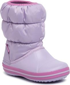 Fioletowe buty dziecięce zimowe Crocs
