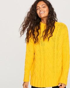 Żółty sweter Reserved w stylu casual