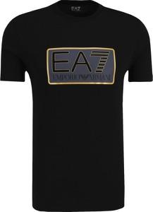 T-shirt EA7 Emporio Armani w młodzieżowym stylu z krótkim rękawem