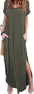 Zielona sukienka Kendallme z dekoltem w kształcie litery v