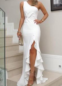 Sukienka Cikelly bez rękawów asymetryczna maxi