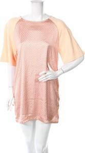 Różowa sukienka Mo Casual mini z krótkim rękawem z okrągłym dekoltem