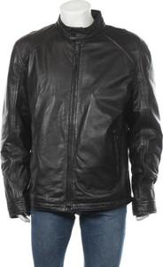 Czarna kurtka Strellson ze skóry w stylu casual krótka