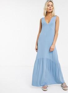 Sukienka Asos z tkaniny baskinka
