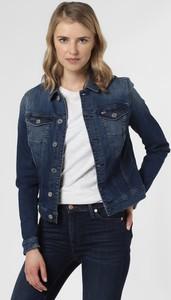 Granatowa kurtka Tommy Jeans krótka z jeansu