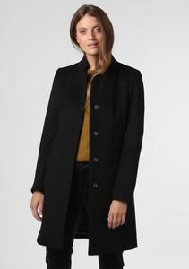 Czarny płaszcz Cinque z kaszmiru