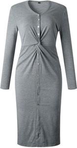 Sukienka Cikelly ołówkowa w stylu casual z długim rękawem