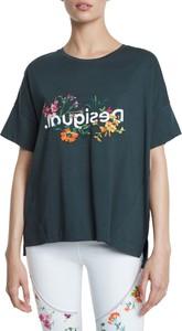 T-shirt Desigual z krótkim rękawem w młodzieżowym stylu