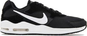 Czarne buty sportowe Nike w sportowym stylu sznurowane z zamszu