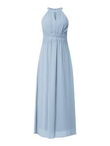 Niebieska sukienka Vila bez rękawów