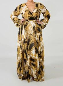 Brązowa sukienka Arilook maxi