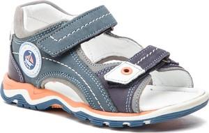 Buty dziecięce letnie Lasocki Kids na rzepy z nubuku