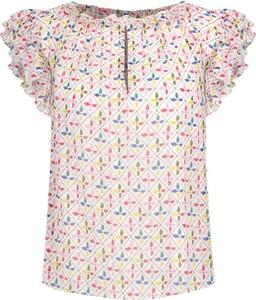 Bluzka Pepe Jeans z okrągłym dekoltem z krótkim rękawem
