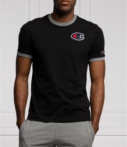 Czarny t-shirt Champion z krótkim rękawem w sportowym stylu