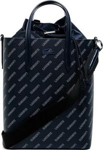 Czarna torebka Lacoste z tłoczeniem