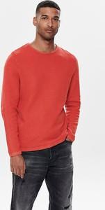Czerwony sweter Only & Sons z bawełny
